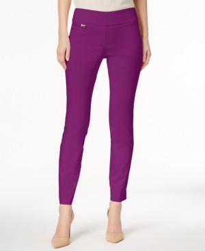 Alfani Petite Tummy-Control Pull-On Skinny Pants, Petite & Petite Short, Created for Macy's
