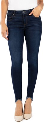 KUT from the Kloth Donna Curved Hem Ankle Skinny Jeans
