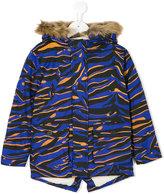 Kenzo Tiger Stripe coat - kids - Cotton/Acrylic/Modacrylic/Polyester - 3 yrs