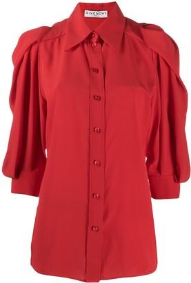 Givenchy Gathered Sleeve Silk Blouse