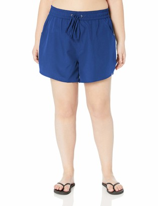 24th & Ocean Women's Plus Size Board Swim Short Bikini Swimsuit Bottom