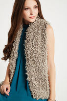 BCBGeneration Shawl Collar Faux-Fur Vest - Gray