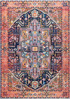 nuLoom Orange & Blue Abstract Geometric Rug