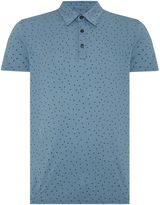 Peter Werth Dawn Triangle Print Cotton Polo Shirt