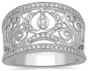 Enchanted Disney Fine Jewelry Diamond Cinderella Carriage Ring (1/3 ct. t.w.) in 14k White Gold