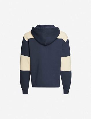 Acne Studios Finten striped cotton-jersey hoody
