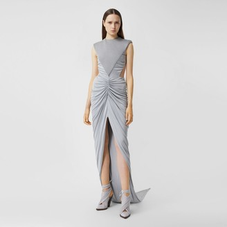 Burberry Gathered Jersey and Neoprene Gown