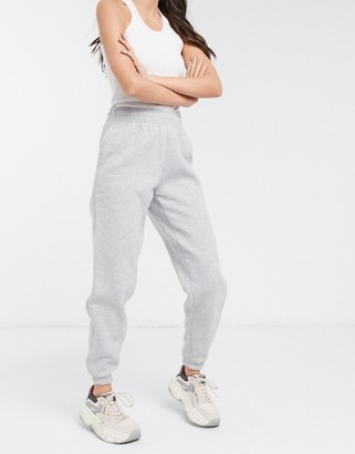 New Look cuffed jogger in mid grey