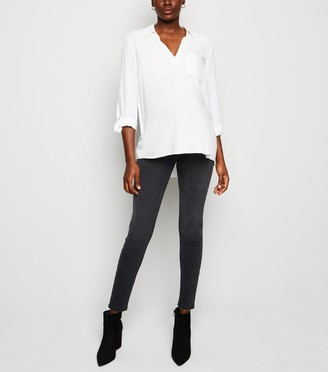 New Look Maternity Washed Lift & Shape Jeggings