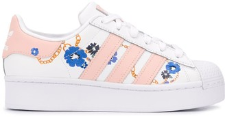 adidas floral-print Superstars sneakers