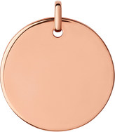 Links of London Narrative 18ct rose-gold large disc pendant