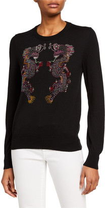 Dragon Optical Libertine Magical Ming Crewneck Cashmere Sweater
