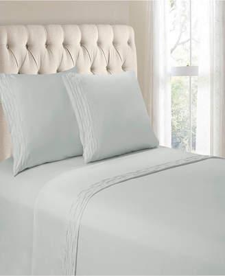Hudson & Main Diamond Ruched Hem 4 Pieces Queen Sheet Set Bedding