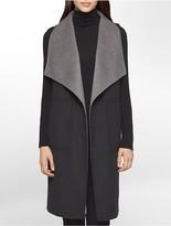 Calvin Klein Reversible Two-Tone Wool Vest