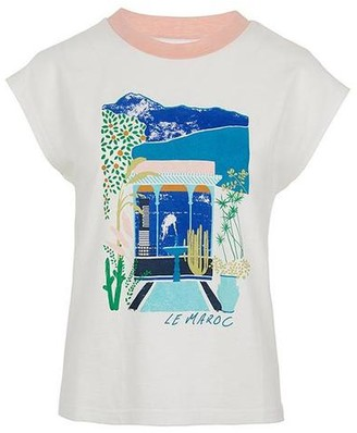 Emily And Fin Maroc Cotton Linen T Shirt - 8