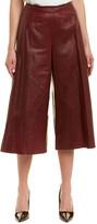 Lafayette 148 New York Thompkins Leather Culotte Pant