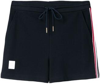 Thom Browne Rwb Stripe Piqué Shorts