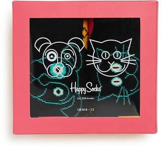 Happy Socks Cat vs. Dog Socks Gift Box