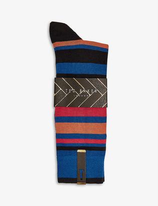 Ted Baker Funkie striped cotton-blend socks