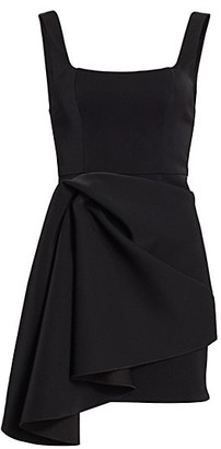 Acler Clarke Scoopneck Knotted Drape Dress