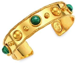 Sylvia Toledano Stone Massai 22K Yellow Goldplated & Malachite Cuff
