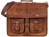 Paper High Large Brown Strap Style Leather Satchel / Laptop Bag