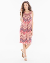 Soma Intimates Neckline Detail Short Swing Dress Faded Chevron