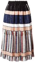 Forte Forte striped gathered skirt - women - Cotton/Polyamide/Spandex/Elastane/Cupro - 3