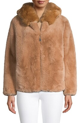 Belle Fare Hooded Faux Fur Jacket