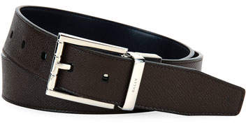 Bally Astor Reversible Leather Belt, Brown