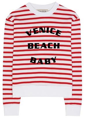 Être Cécile Striped printed cotton sweatshirt