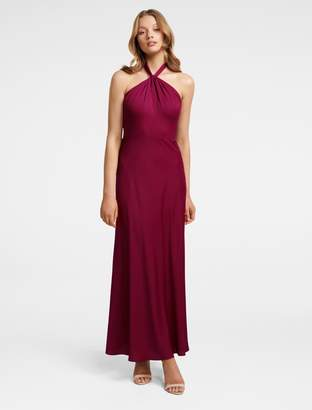 Forever New Chen Halterneck Gown - Berry - 4