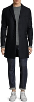 The Kooples Men's Wool Striped Top Coat