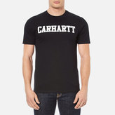 Carhartt Short Sleeve College Tshirt - Black/white
