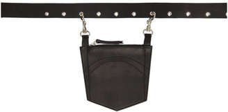 Dheygere Black Leather Pocket Belt