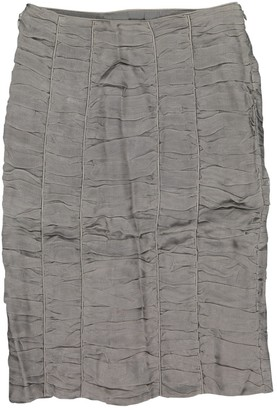 Burberry Grey Silk Skirt for Women
