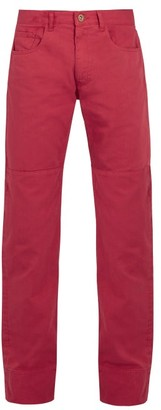 Wales Bonner Panelled Denim Jeans - Mens - Red
