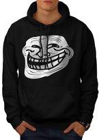 Trollface Troll Meme Men XXL Hoodie | Wellcoda