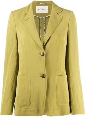 Etro Linen Tailored Blazer