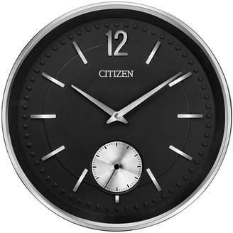 Citizen Gallery Silver-Tone & Black Wall Clock