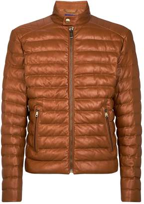 Ralph Lauren Purple Label Quilted Leather Jacket