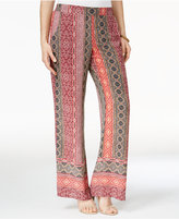 Amy Byer Juniors' Printed Wide-Leg Soft Pants