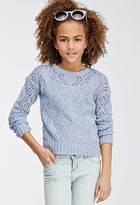 Forever 21 Girls Chunky Ball-Knit Sweater (Kids)