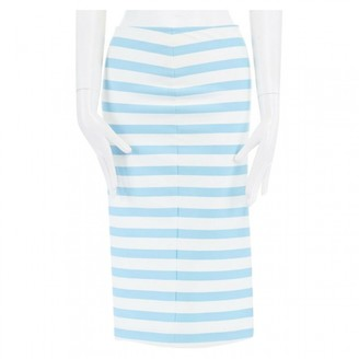Tanya Taylor Blue Cotton Skirt for Women