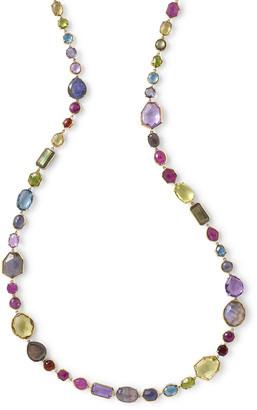 "Ippolita 18k Rock Candy Sofia Necklace in Fall Rainbow, 39""L"