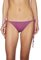 Tori Praver Coco Ruched String Bikini Bottom