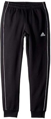 adidas Kids Core 18 Sweatpants (Little Kids/Big Kids) (Black/White) Boy's Casual Pants