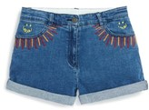 Stella McCartney Toddler Girl's Eddie Rainbow Embroidered Denim Shorts