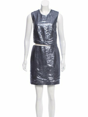 Kaufman Franco Kaufmanfranco Sequined Mini Dress Blue Kaufmanfranco Sequined Mini Dress