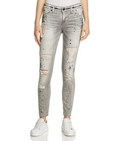 True Religion Halle Embellished Splattered Skinny Jeans in Supreme